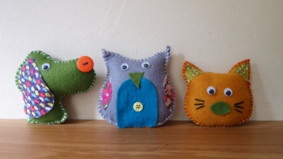 hand stitched felty friends