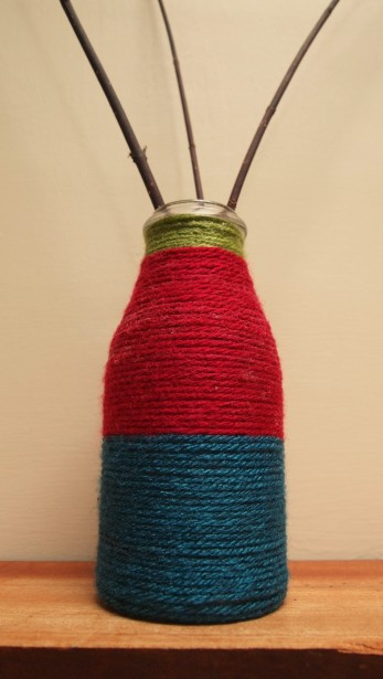 wool wrapped vase