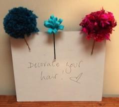 decorated hair slides