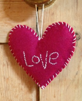 hand stitched heart