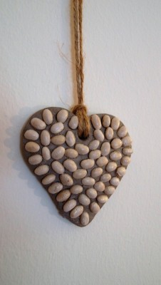 clay heart decoration