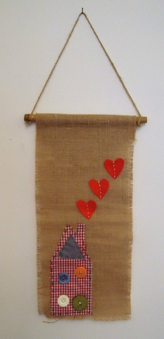 stitched wall hanging