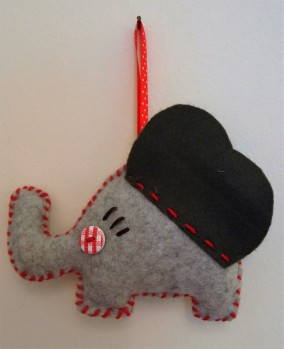 stitched hanging felty friend