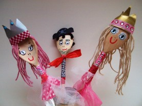 wooden spoon princess and pirate