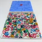 fabric decorated coaster tiles