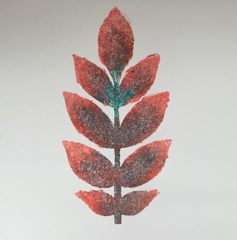 leaf stencil - ash