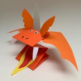 Zog paper puppet